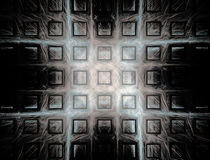 Abstract Background. Remembering an ancient stone wall with squared pattern decoration. Grunge texture. Space for copy Royalty Free Stock Photography