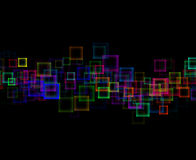 Abstract background. Colorful blurred squares background image Stock Images