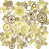 Abstract background. Abstract clockwork background, seamless pattern with sprockets stock illustration