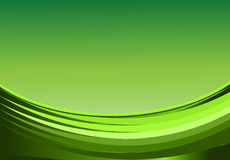 Abstract background. With waves green gradient illustration royalty free illustration