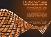 Abstract background. Made from brown and orange squares vector illustration