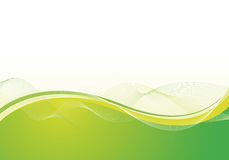 Abstract background. Abstract green background design with waves royalty free illustration