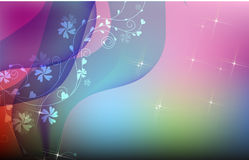 Abstract background. Illustration drawing smooth curl and patterns on blur background Stock Photography