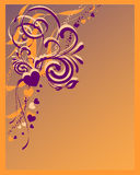 Abstract background. Vector illustration od hearts and floral elements Stock Image