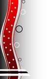Abstract background. Red abstract background with circles royalty free illustration
