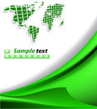 Abstract background. The vector green abstract background royalty free illustration