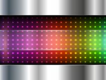 Abstract background. Metallic with rainbow dots pattern, vector illustration Stock Photo