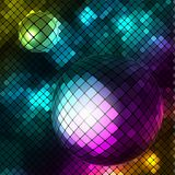 Abstract background. With mirror balls Stock Photos