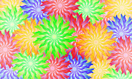 Abstract background of abstract flowers Royalty Free Stock Images