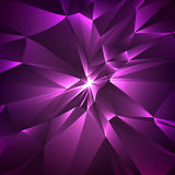 Abstract background. Abstract glass. Vector triangles. Glossy bright triangles. With light in center. Royalty Free Stock Images
