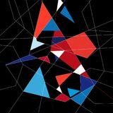 Abstract background. Abstract graphics a background of different polygons Royalty Free Illustration