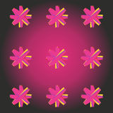 Abstract background with abstract stars on pink. Royalty Free Stock Images