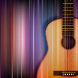Abstract background with acoustic guitar Stock Photos