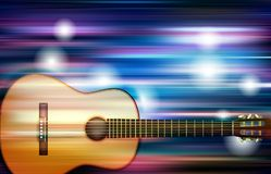 Abstract background with acoustic guitar. Abstract blue white music background with acoustic guitar Stock Photos