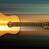 Abstract background with acoustic guitar. Blur music background with acoustic guitar on gray Stock Image