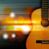Abstract background with acoustic guitar. Abstract music blur background with acoustic guitar Royalty Free Stock Photo