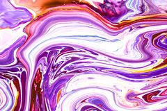 Abstract background with acrylic liquid textures. Modern artwork with spots and splashes of color paint. Applicable for. Into coffee packaging, labels, business royalty free illustration