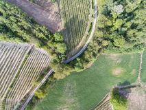Abstract background. Aerial photography of a country road Stock Image