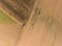 Abstract background. Aerial photography of a field Stock Photos
