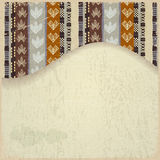 Abstract background with African Tribal elements. Retro, grunge stock illustration
