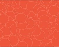 Abstract background air bubbles on orange background vector illustration