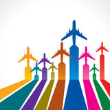 Abstract background with airplane Royalty Free Stock Image