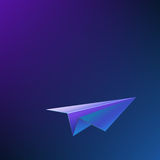 Abstract background with airplane. Vector illustration Stock Image