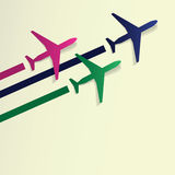 Abstract Background - Airplanes Royalty Free Stock Photo
