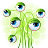 Abstract background with alien eyes Royalty Free Stock Photo