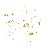 Abstract background with alling golden tiny confetti pieces. Abstract background with falling golden tiny confetti pieces. Vector Illustration Vector Illustration