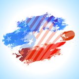 Abstract background in American Flag colors. Abstract brush stroke background in American Flag colors for 4th of July concept Royalty Free Stock Photos