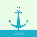 Abstract background. With  anchor. Marine symbol. minimal Vector Illustration