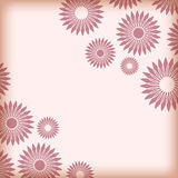 Abstract background with angular floral vintage frame, banner, invitation card, template for design. Vector Royalty Free Stock Photography