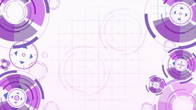 Abstract background with animated circles stock video footage