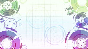 Abstract background with animated circles stock video