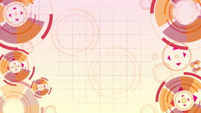 Abstract background with animated circles stock footage