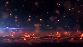 Abstract background with animation falling glittering particles as festive rain. 4K, Ultra HD resolution stock footage