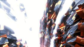 Abstract background with animation of flight in sci-fi tunnel. Looped animation. HD Abstract background with animation of flight in sci-fi tunnel. Looped stock video