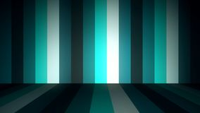 Abstract background with animation of moving colorful stripes on walls and floor. Animation of seamless loop. Abstract. Animation of colored floor and wall Royalty Free Illustration