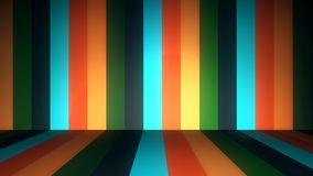 Abstract background with animation of moving colorful stripes on walls and floor. Animation of seamless loop. Abstract. Animation of colored floor and wall stock illustration