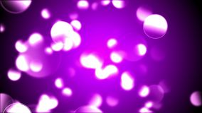 Abstract background with animation slow motion of delicate circle bokeh lights stock video footage