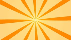Abstract background with animation of sun beams. Retro radial background. 3d rendering royalty free illustration