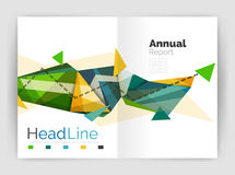 Abstract background annual report template Stock Photo