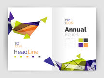 Abstract background annual report template. Geometric triangle design business brochure cover Royalty Free Stock Photo