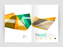 Abstract background annual report template. Geometric triangle design business brochure cover Stock Image