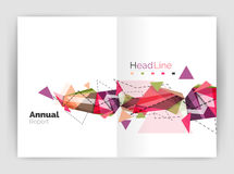 Abstract background annual report template. Geometric triangle design business brochure cover Stock Images