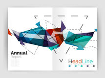 Abstract background annual report template. Geometric triangle design business brochure cover Stock Illustration