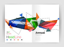 Abstract background annual report template. Geometric triangle design business brochure cover Vector Illustration