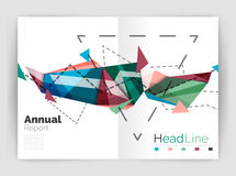Abstract background annual report template Royalty Free Stock Images