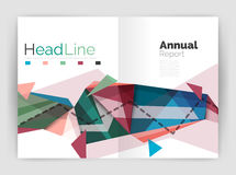 Abstract background annual report template Stock Image